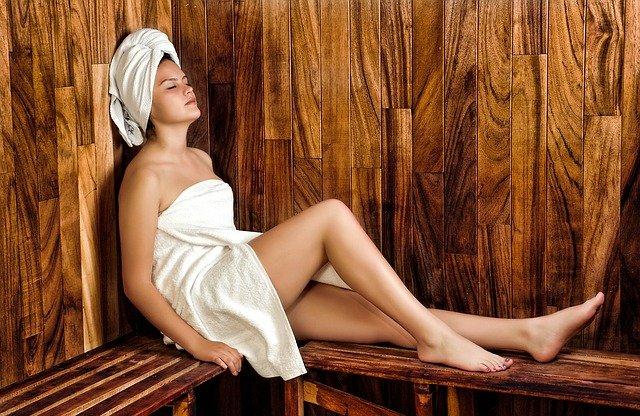 uvolnění v sauně
