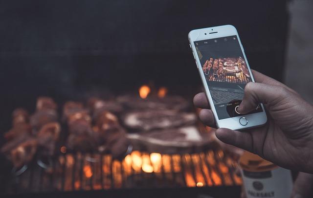 mobil fotí grilovací rošt